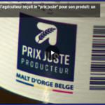 Reportage RTL INFO sur le label Prix Juste Producteur